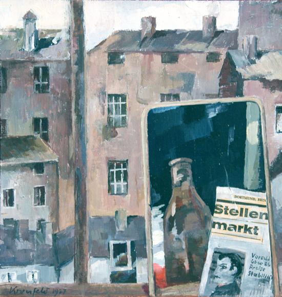 Um 1962, Stellenmarkt, Collage- Acryl-Papier, 24 x 25 cm