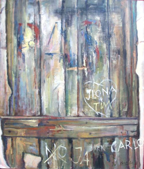 1978, Ilona und Tim, Acryl / Hartfaser, 68 x 80 cm