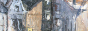 1996, Die schlanke Mathilde, Acryl / Karton, 71 x 82 cm