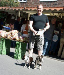Thorsten Hoffmann auf dem Davidis Markt (Foto: Rüdiger Beck)