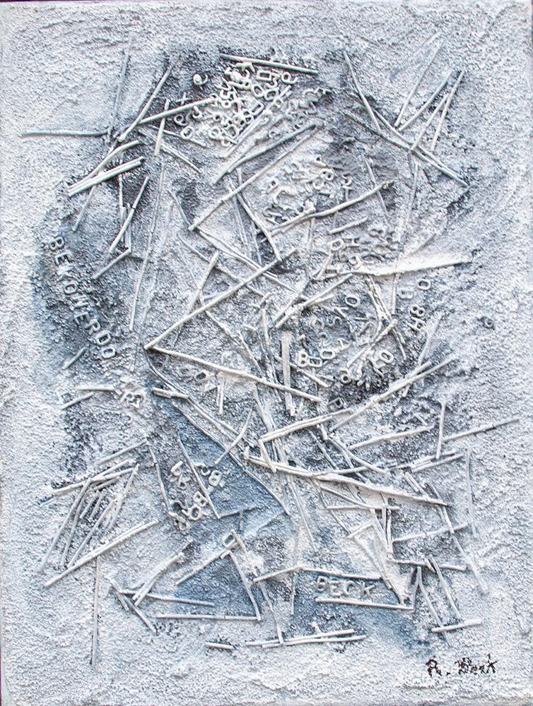 Nudelsalat, 30 x 40 cm, Acryl auf Leinwand, 2021, Bekowerdo (Foto: Rüdiger Beck)